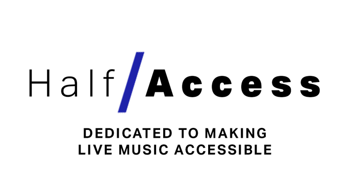 Half / Access Dedicated to making live music accessible logo